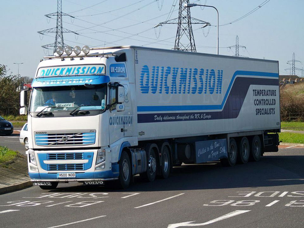 A Quickmission refrigerated haulage truck