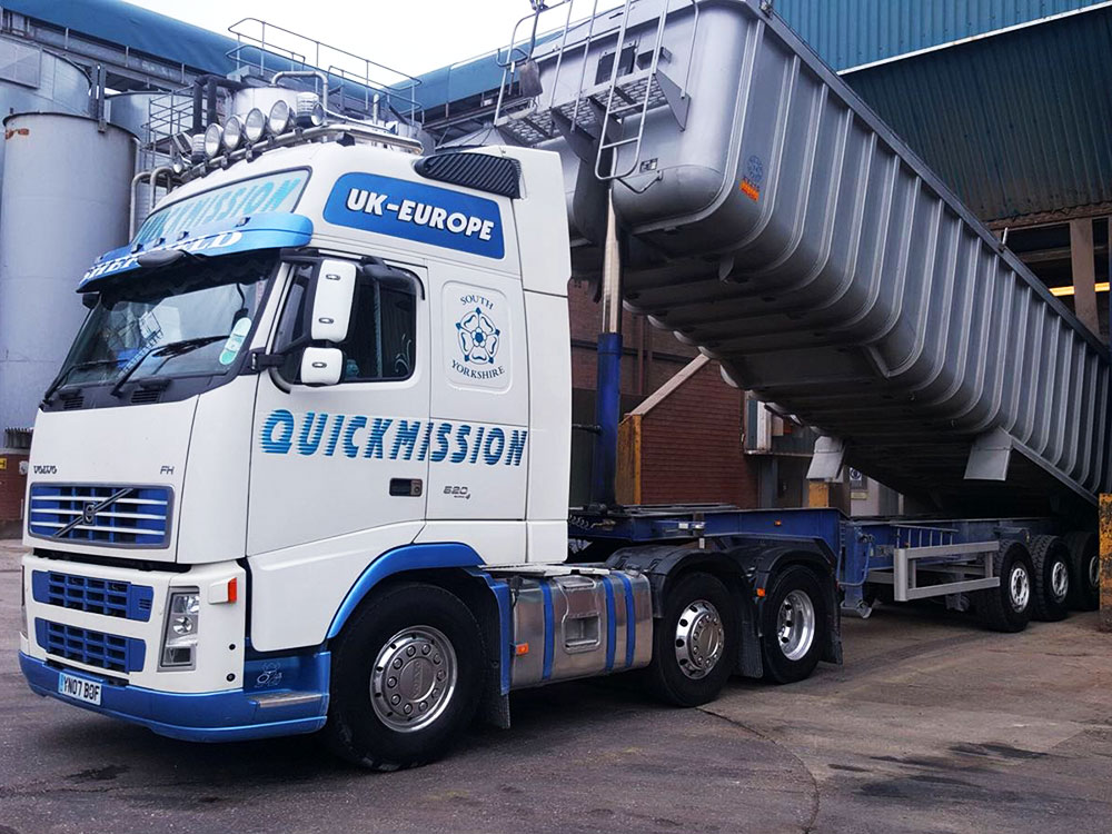 Quickmission tipping haulage