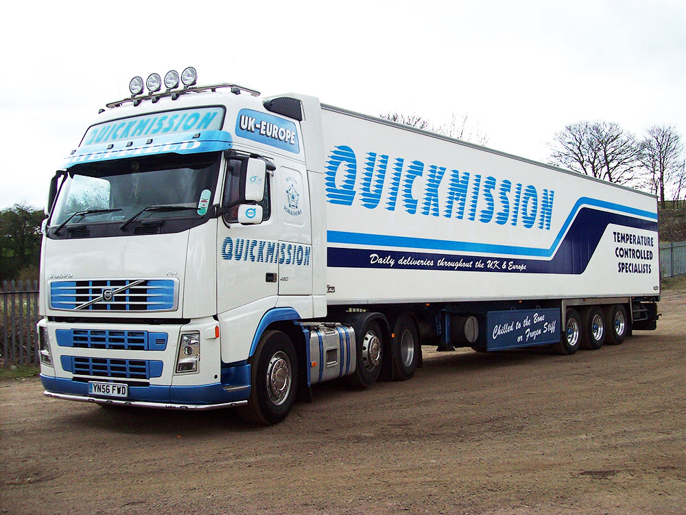 Quickmission are temperature controlled haulage specialists